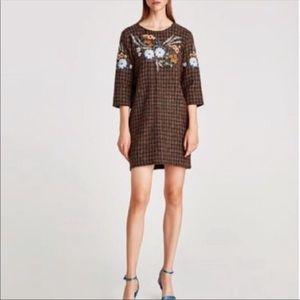 ZARA TWEED SHIFT DRESS